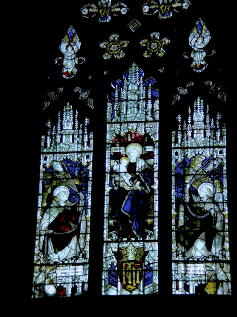 Stained glass window from Holy Name Chapel of St John the Evangelist Church