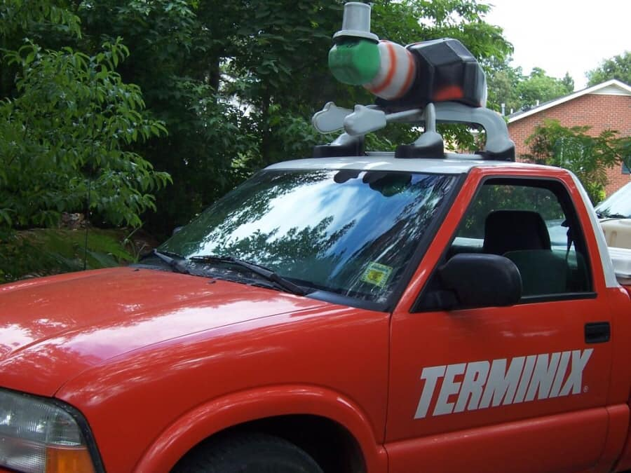 Terminix Truck with model termite on top